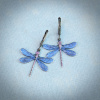 Large Mystic Blue Dragonfly Earrings