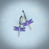 Small Purple Dragonfly Earrings