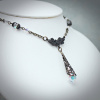 Aurora Borealis Clear Crystal Lavalier Necklace