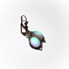 Green Frosted Glass Lumina Earrings