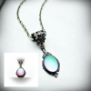 Green Frosted Glass Lumina Necklace