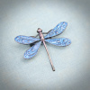Mystic Blue Dragonfly Brooch