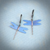 Large or Small Mystic Blue Dragonfly Earrings
