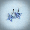Mystic Blue Filigree Butterfly Earrings