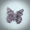 Burgundy Filigree Butterfly Brooch