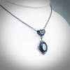 Faceted Black Onyx Pendant Necklace