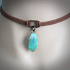 Turquoise Feather Choker