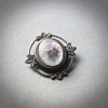 Small Frosted Floral Brooch/Pendant