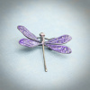 Art Nouveau Purple Dragonfly Brooch