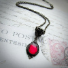 Siam Red Edwardian Pendant