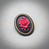 Small Red Rose Cameo Brooch/Pendant