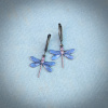 Small Mystic Blue Dragonfly Earrings