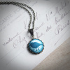 Teal Sparrow Necklace